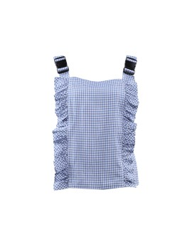 Gingham Buckle Top in Blue