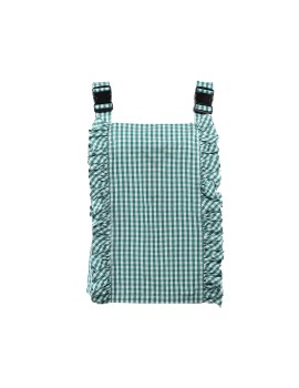 Gingham Buckle Top in Green