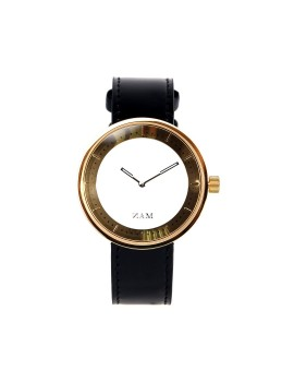 Toba Gold-White Strap Black (Women)