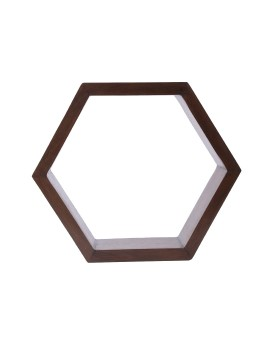 Hex Shelf in Rustic