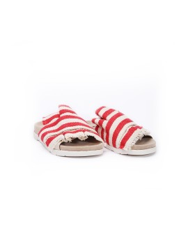 Canvas Sliders-Red stripes