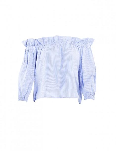 Kara Blue-white Striped