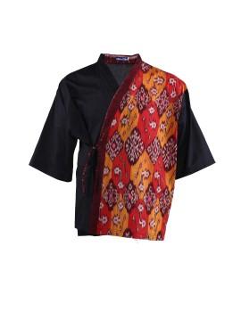 Oniisan Kimono With Orange Bali Tenun