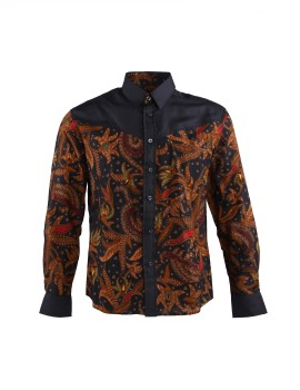 Men Long Sleeve Batik Shirt Ningrat