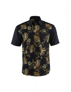 Men Short Sleeve Batik Shirt Rendy