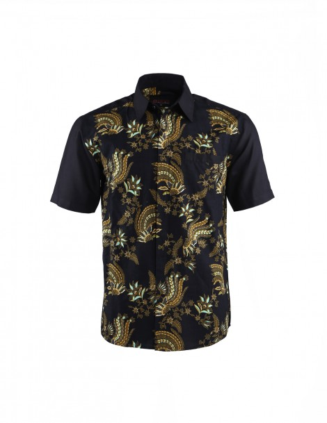 Men Short Sleeve Batik Shirt Rendy