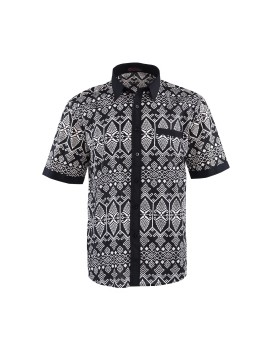 Men Shirts Batik Short Sleeve