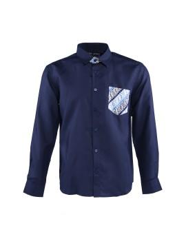 Men Shirt Pocket Batik Parang