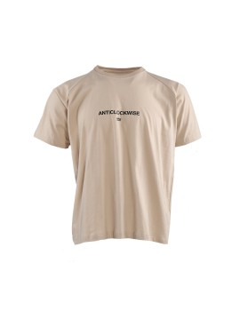 Oversized Anticlockwise Tee Beige