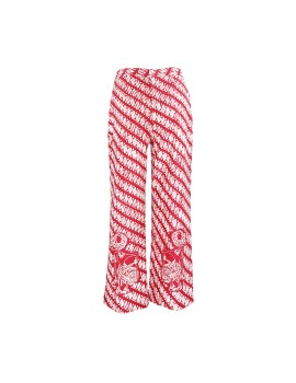 Wayang Cigarette Pants Red