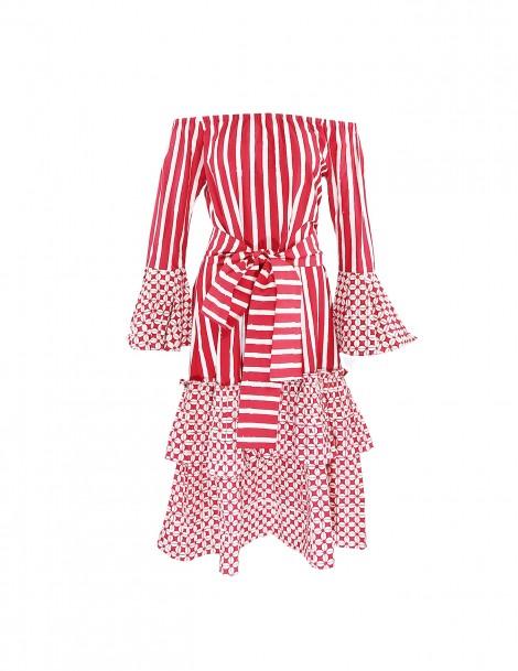 Boho Dress Red
