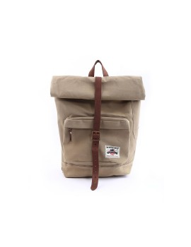 Rengganis Roll Top Backpack Khaki Brown