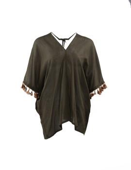 Dress Triangle Pompom Olive