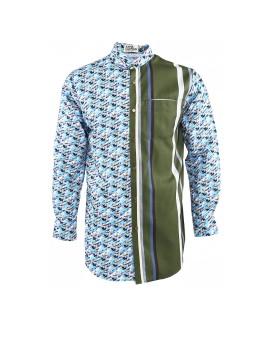 Morfeus Shirt Green Soft Blue