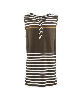 Magnifera Tee brown stripes