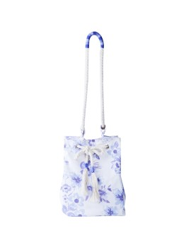 Placid Blue Floral Summer Bag Blue