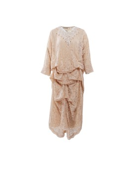 Ara Kaftan Dress Longsleeve Golden Beige