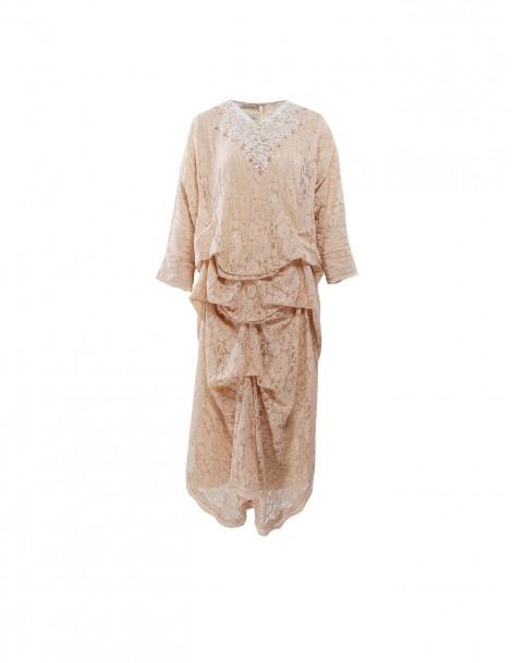 Ara Kaftan Dress Longsleeve Golden Beige