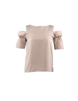 Camden Off Shoulder Top Sea Sand