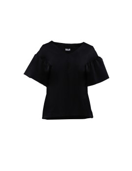 Willow Big Sleeves Top Black