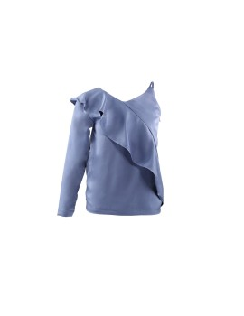 Lloyd One Shoulder Top Baby Blue