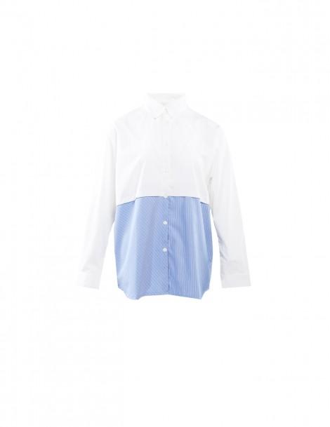 Edith Shirt Dark White & Blue
