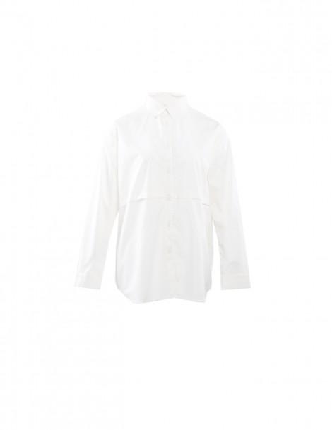 Edith Shirt Dark White & White