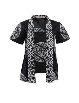 Kutubaru Batik Blouse Selampad Black