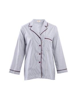 Selma Top White-Gray Stripe