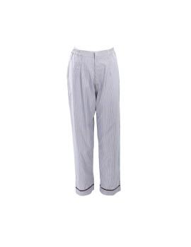 Selma Pants White-Gray Stripe