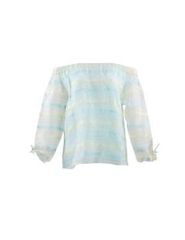 Lasyah Sabrina blue, yellow, white (stripes)