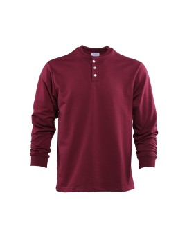 Chief Henley Shirt Garnet