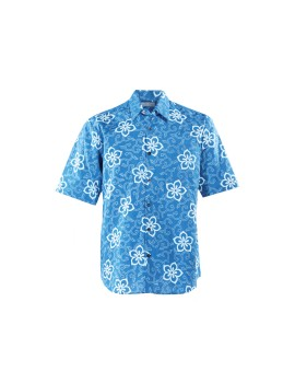 Plumeria Nature Charm Men Short Sleeve