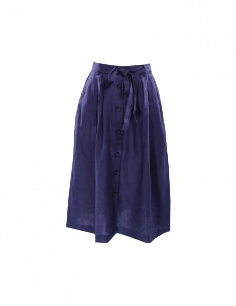 Lunna Ribbon Skirt Dark Blue