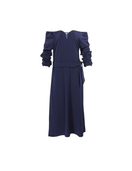 Sabrin Dress Navy Blue