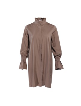 Frufru Shirt Dress Camel