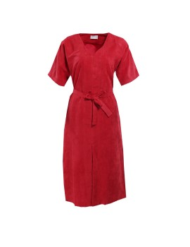 Remi Suede Dress Red