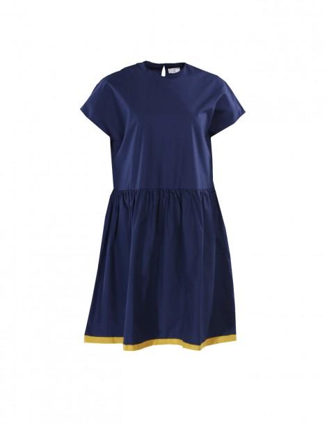 Drop Waist Dress Navy Yellow