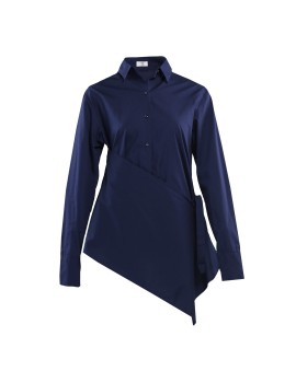 Long Sleeve Shirt with Apron Detail