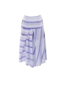 Asymmetrical Skirt I Blue Stripes