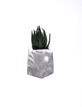 Square with Artificial Succulent 014