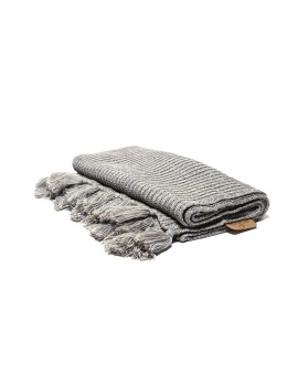 Knitted Baby Blanket Misty Grey