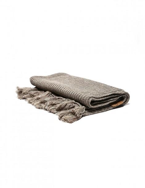 Knitted Baby Blanket Khaki Brown