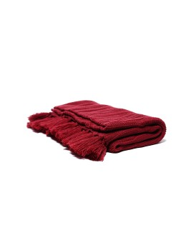 Knitted Baby Blanket Pattern Maroon