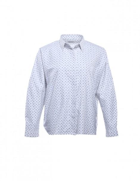 Riley's Boyfriend Shirt White Pattern