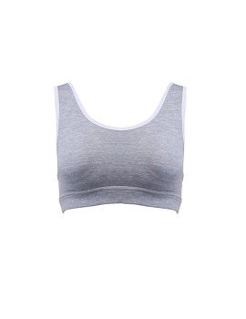 Criss Cross Grey Sport Bra